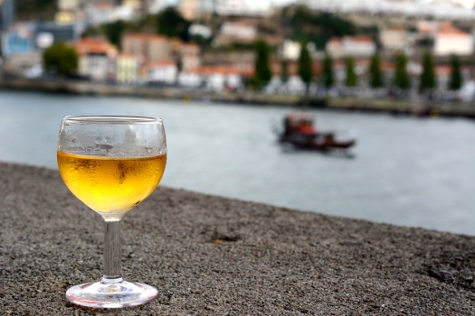 White port on the water.
